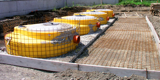SEPTIC TANK AND WATER DEPOSITS