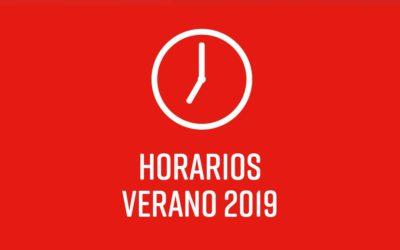 Horario Verano 2019