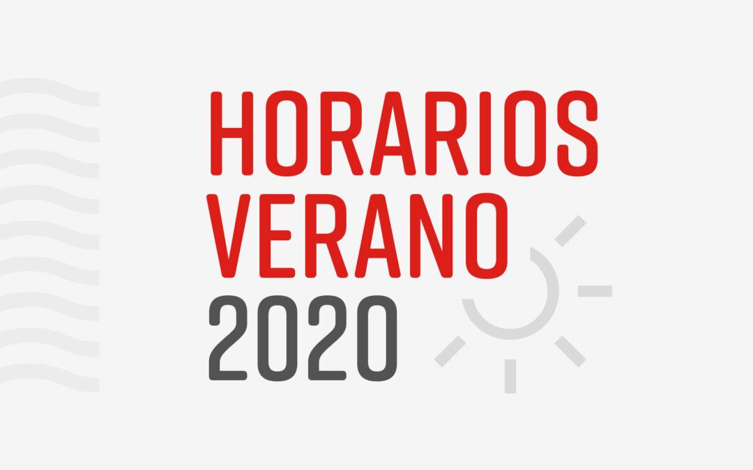 Horarios Verano 2020